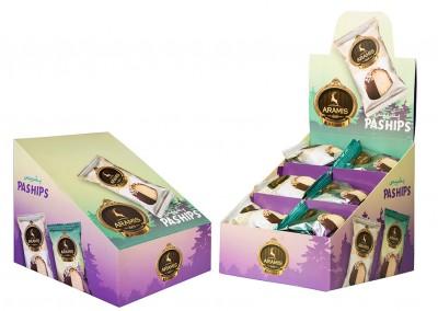 بسته بندی پشیپس شکلاتی