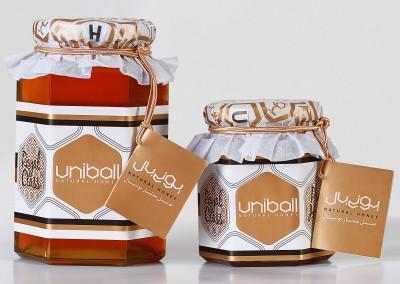 طراحی لیبل عسل یونی بال